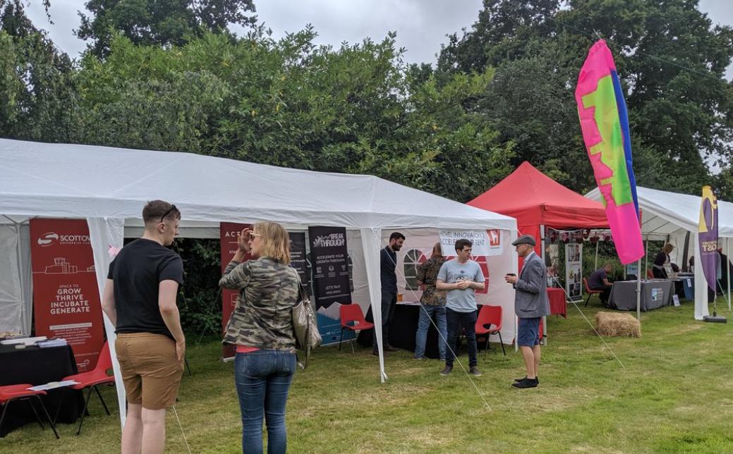 Hethel Innovation Sponsor Accelerator Tent at Norfolk Enterprise Festival