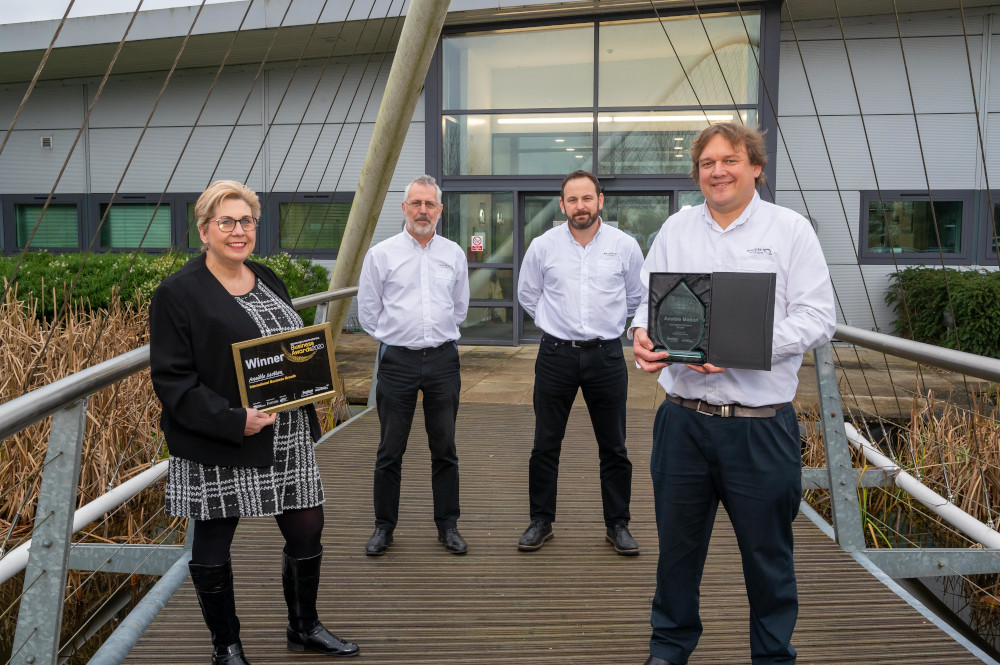 Ansible Motion team with Broadland and South Norfolk Business Awards at Hethel Engineering Centre